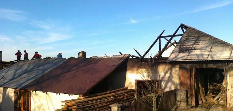 Pożar stolarni w Olszynach