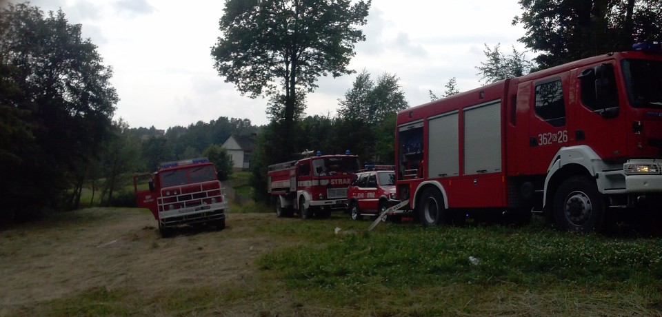 Pożar budynku w Rzepienniku Strzyżewskim
