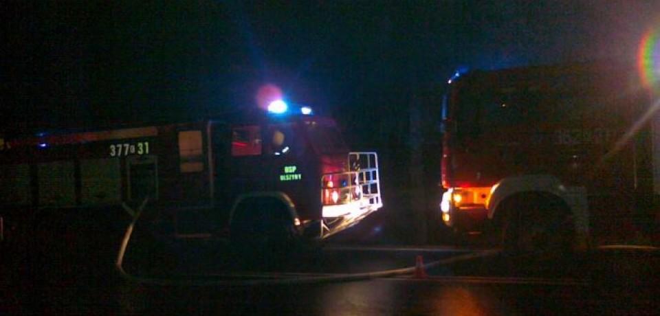 Pożar stodoły w Rzepienniku Strzyżewskim