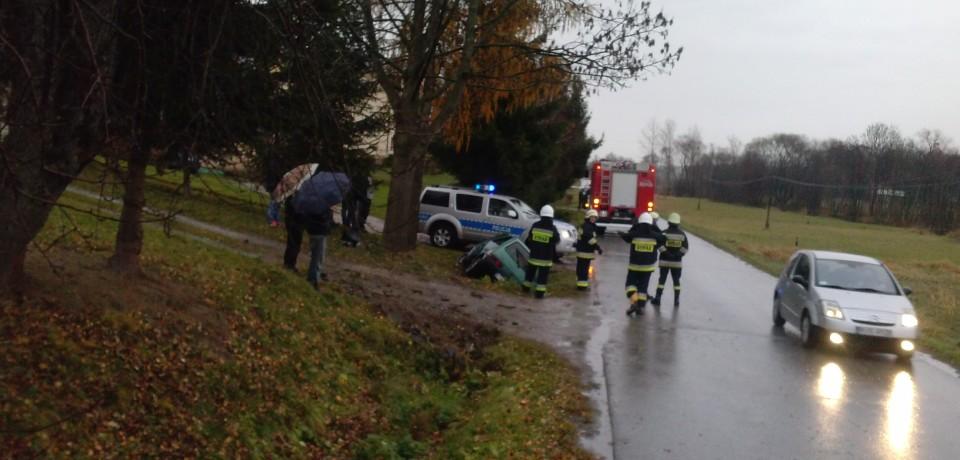 Wypadek drogowy w Olszynach