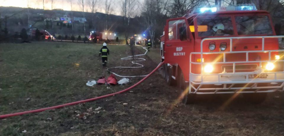 Pożaru budynku mieszkalnego w Olszynach