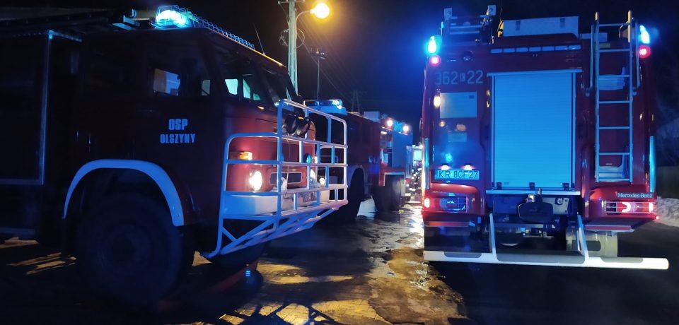 Pożar wytwórni pasz w Turzy